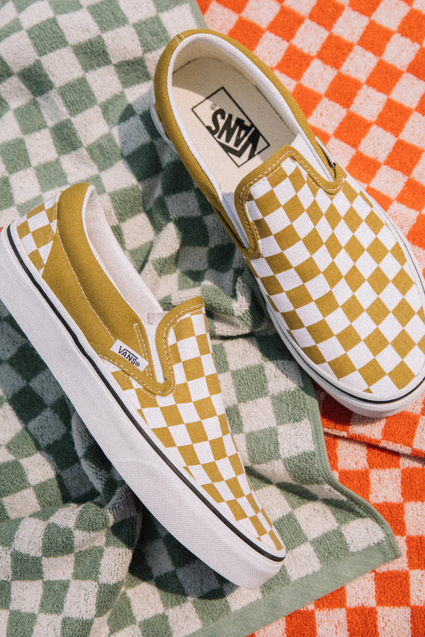 Olive Oil Checkerboard Slip-On