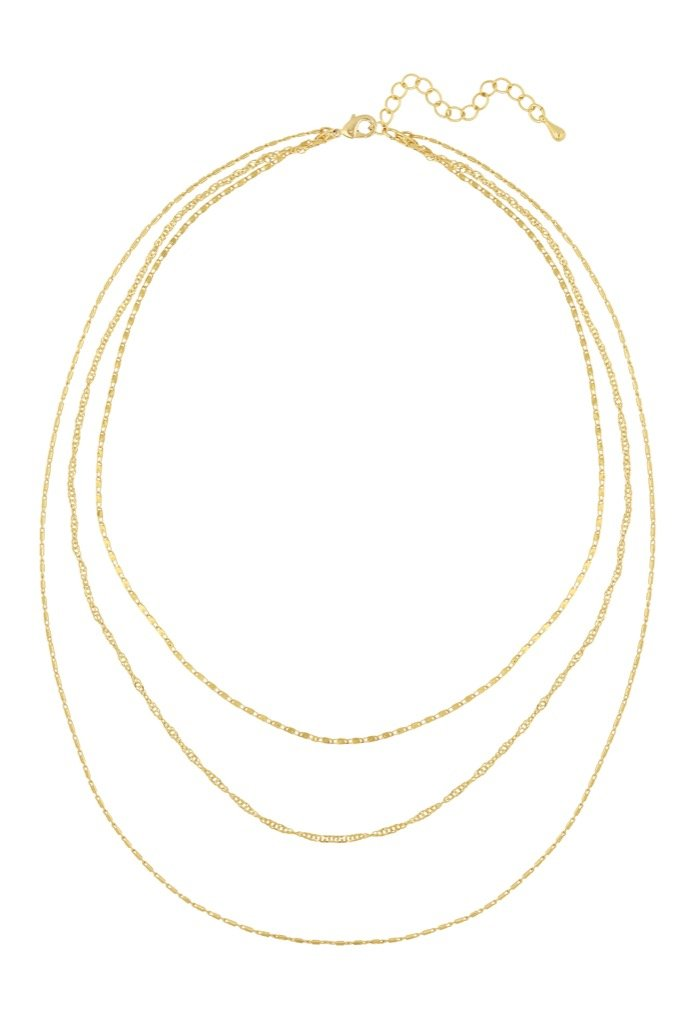 Gold Cher Layered Necklace