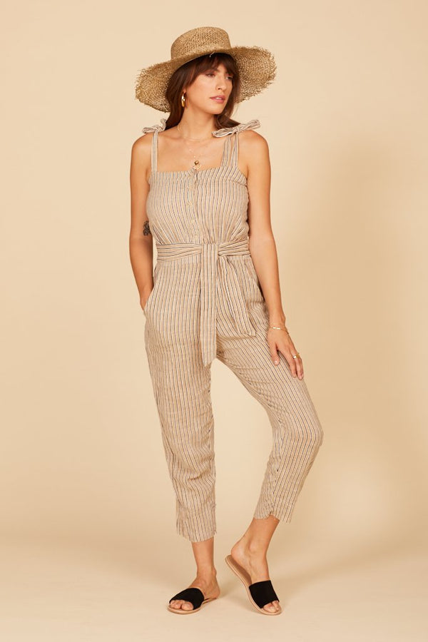 Sand Stripe Grace Jumpsuit