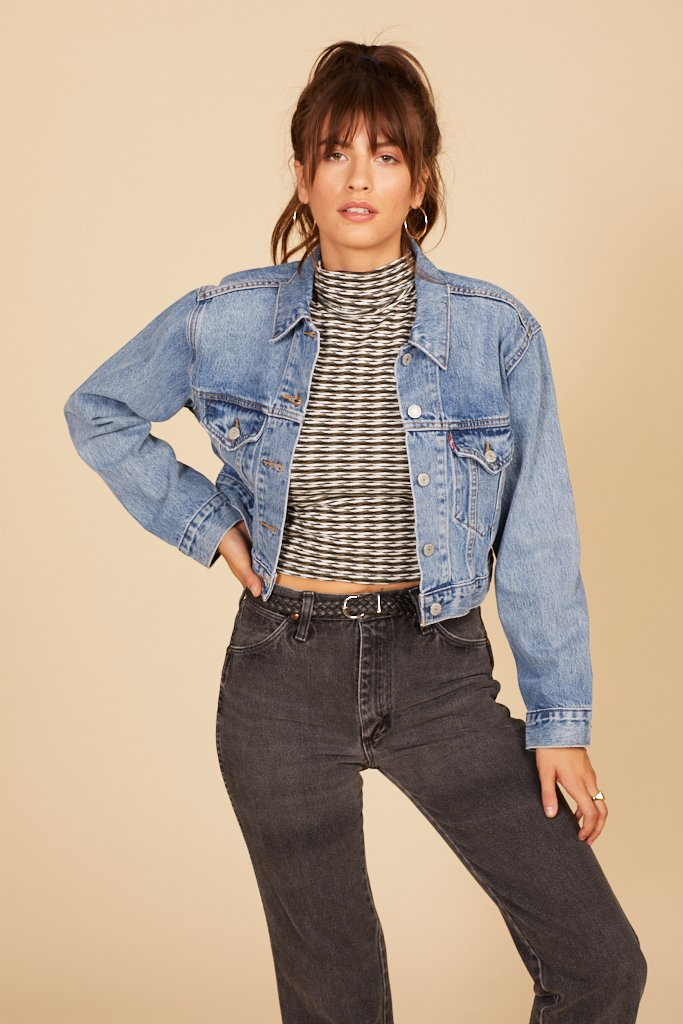 Small Talk Cropped Trucker Jacket