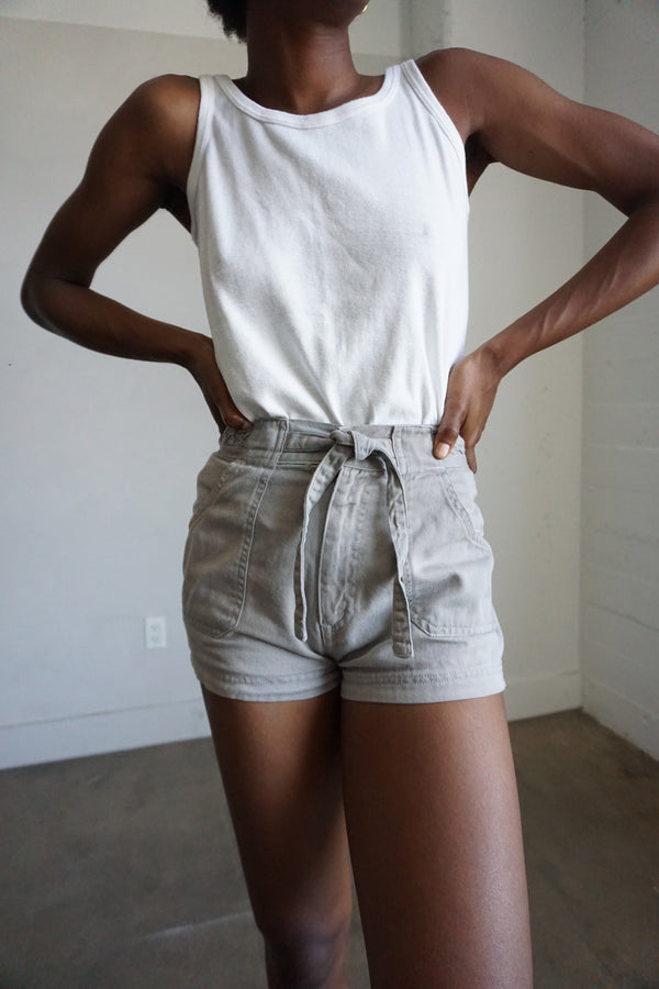 70s Braided Waist Band Shorts