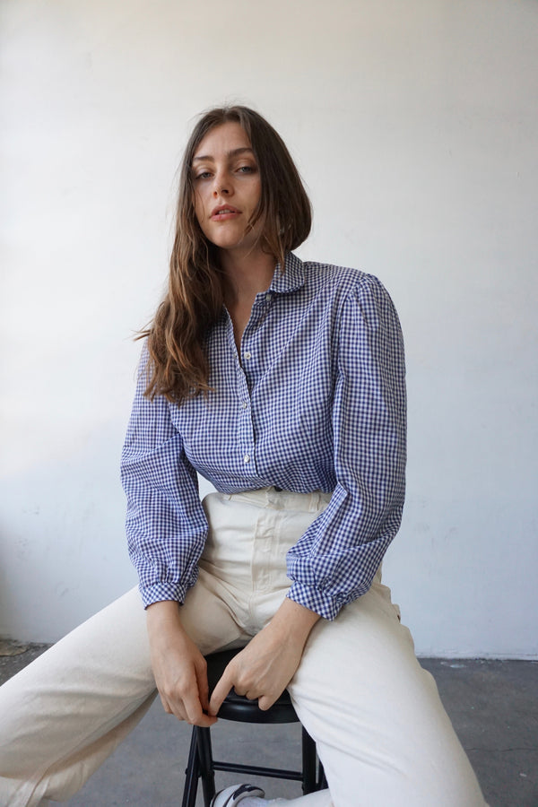 H-bar C Gingham Puff Sleeve Shirt
