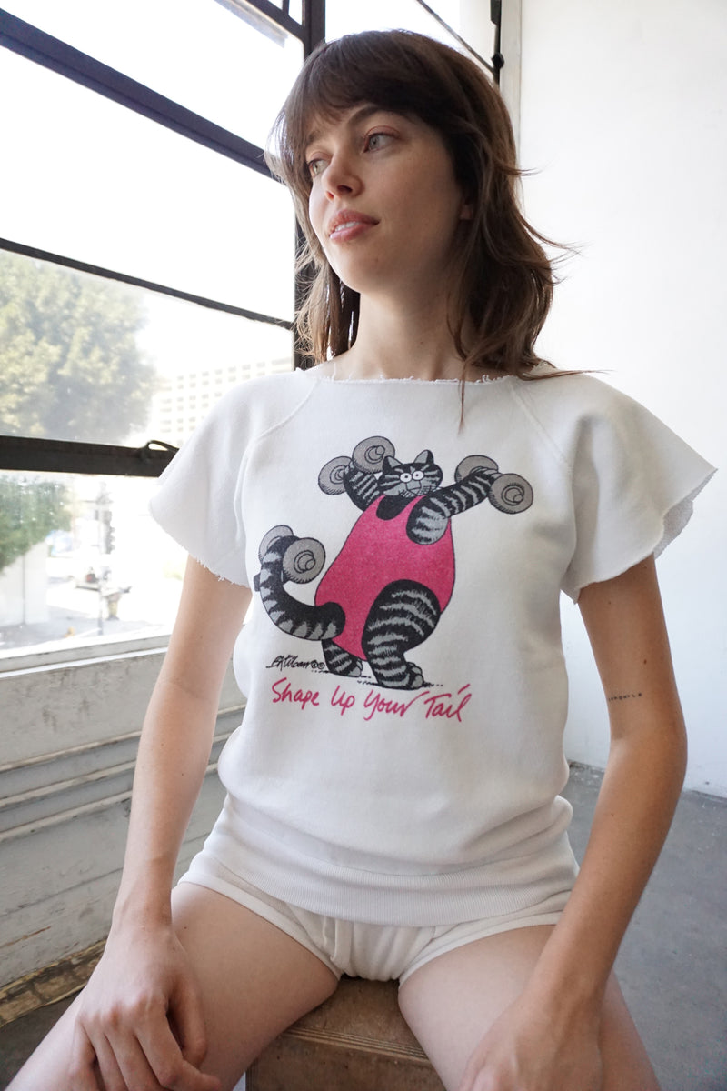 Shape Up Your Tail Short Sleeve Sweatshirt