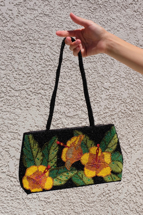 Beaded Hibiscus Purse