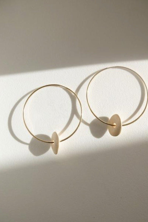 Gold Pebble Hoops