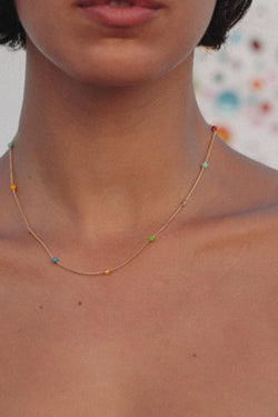 Rainbow Chain Necklace