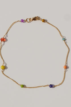 Rainbow Chain Anklet