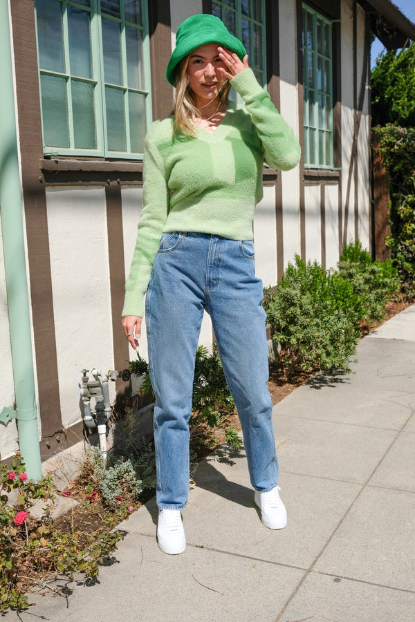 Palm Green Suburban Sweater