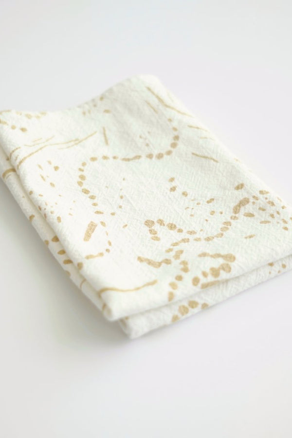 Gold Drape Tea Towel