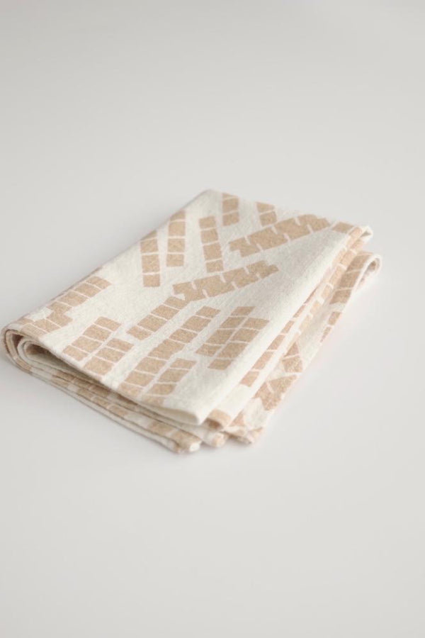 Shell Tiles Tea Towel