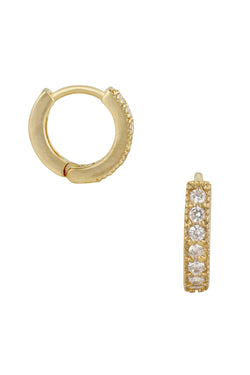 Gold CZ Dallas Hoops