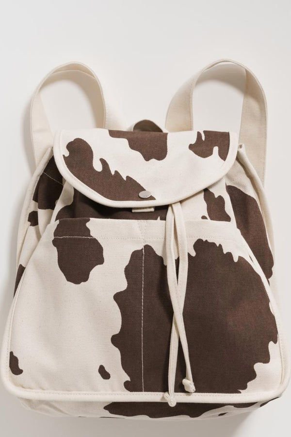 Brown Cow Drawstring Backpack