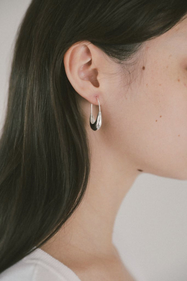 Silver Marta Hoop Earrings