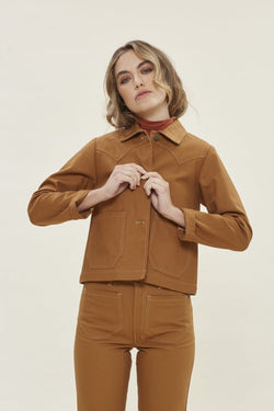 Honey Shrunken Ranch Jacket