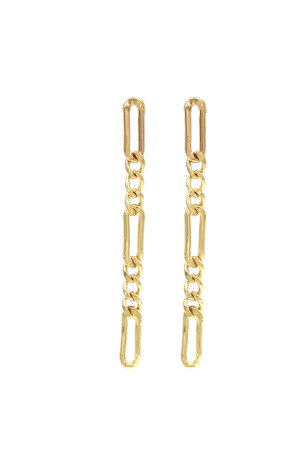 Gold Elsa Chain Earrings