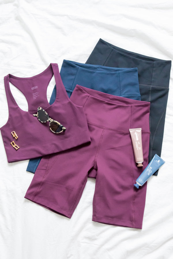 Plum High-Rise Bike Short