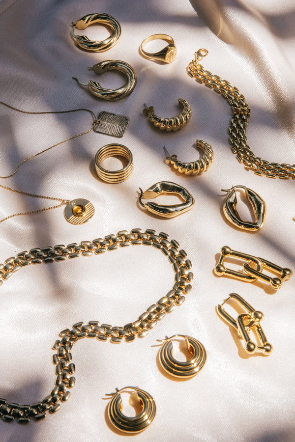 Gold Marthe Hoops