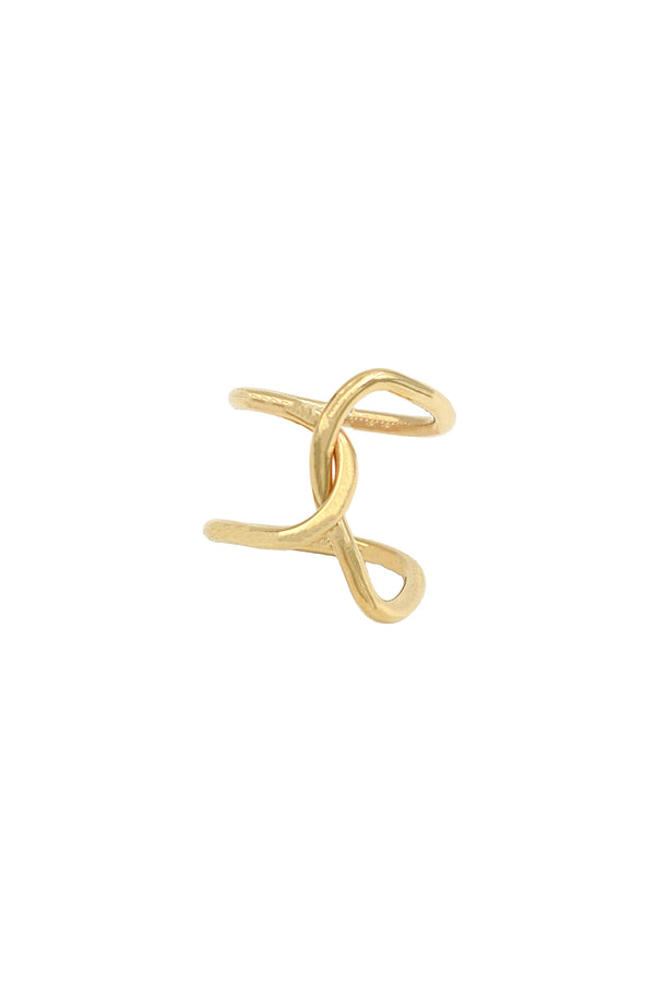 Gold Fluid Ring