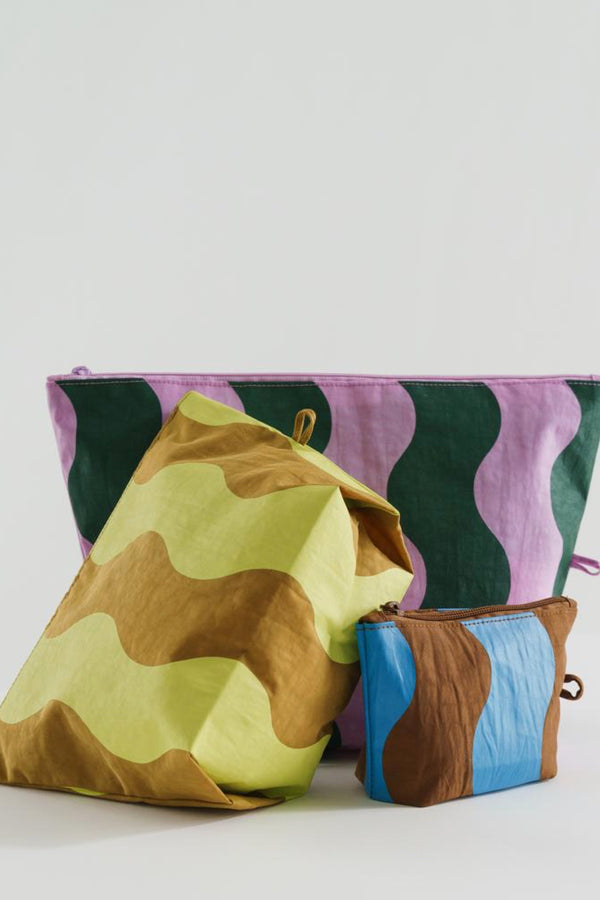 Wavy Stripes Go Pouch Set