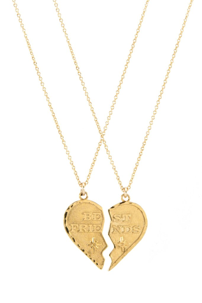 Gold BFF Necklace Set