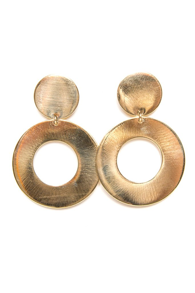 Gold Taos Hoops