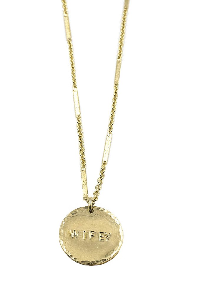 Gold Wifey Coin Necklace