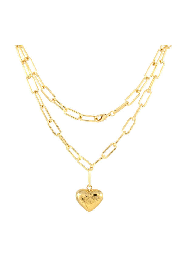 Gold HBIC Charm Necklace