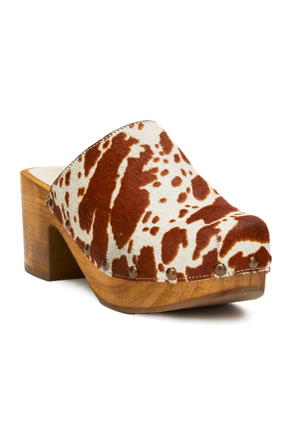 Brown Cow Holly Clog
