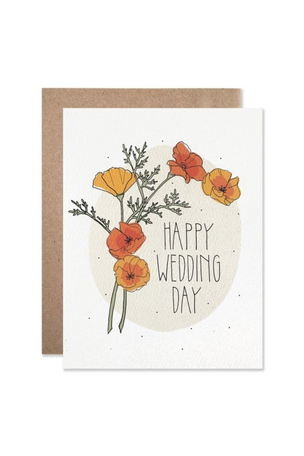 Wedding Day Poppies Card
