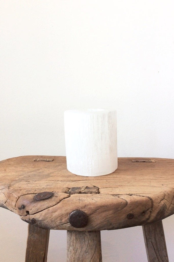 Large Selenite Tealight Holder