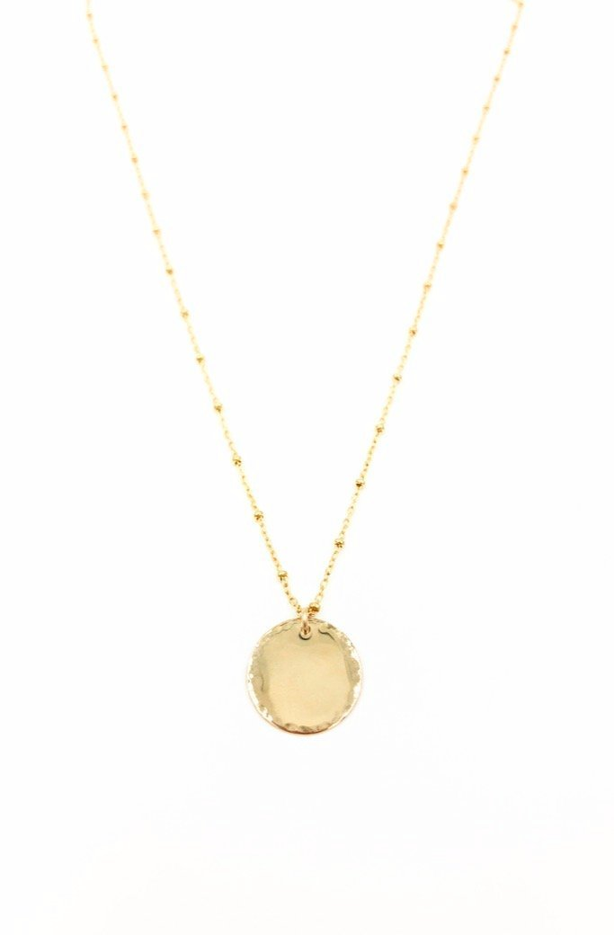 Gold Mirror Coin Necklace