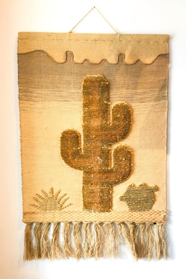 Woven Cactus Wall Hanging