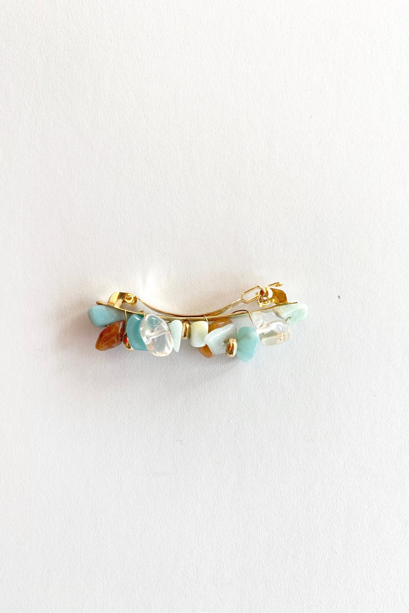 Neo Mint Pebble Barrette