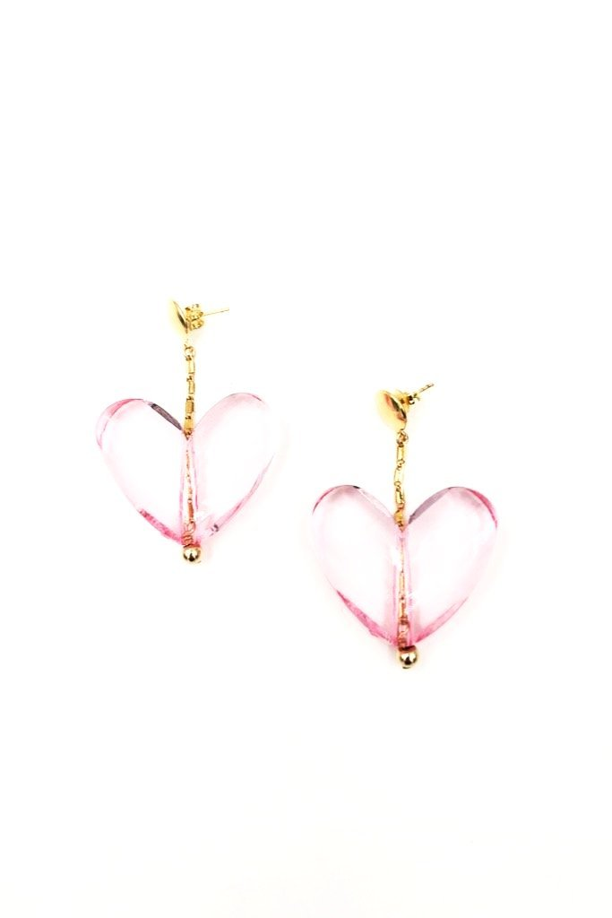 Pink Mon Coeur Earrings