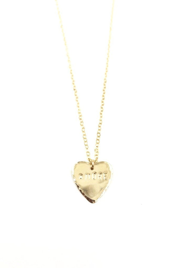 Gold Heart Amore Necklace
