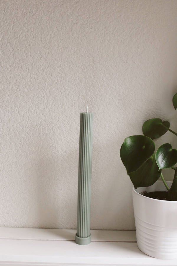 Eucalyptus Fluted Pillar Candle