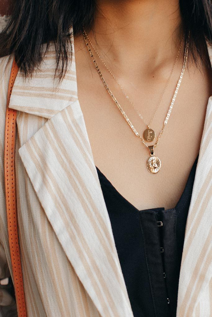 Gold Matisse Face Necklace