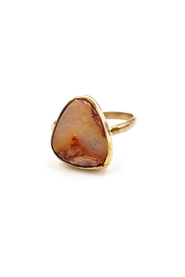 Fire Opal Kingman Ring