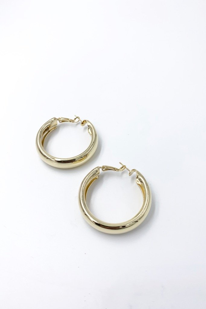 Small Gold Largo Hoops