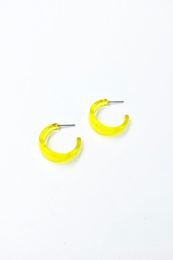Yellow Crystal River Hoops