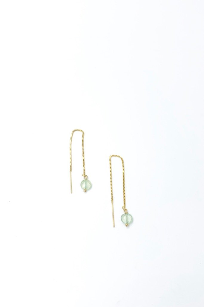 Solitaire Threader Earrings