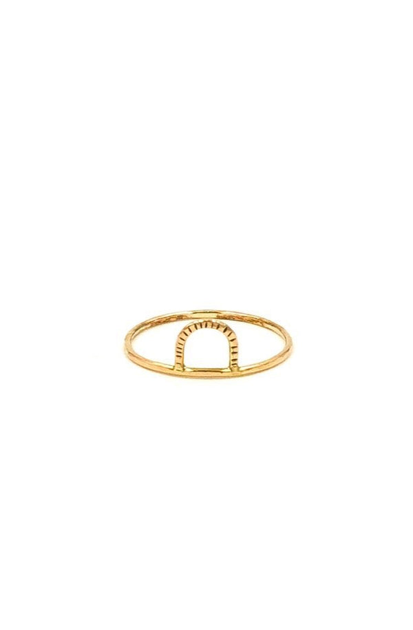 Gold Mini Arc Ring