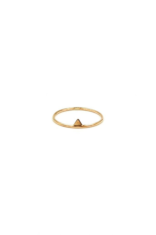 Gold Triangle Stack Ring