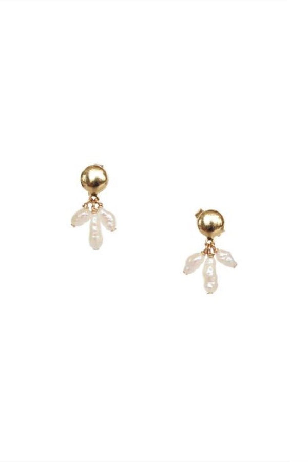 Pearl Pavo Earrings