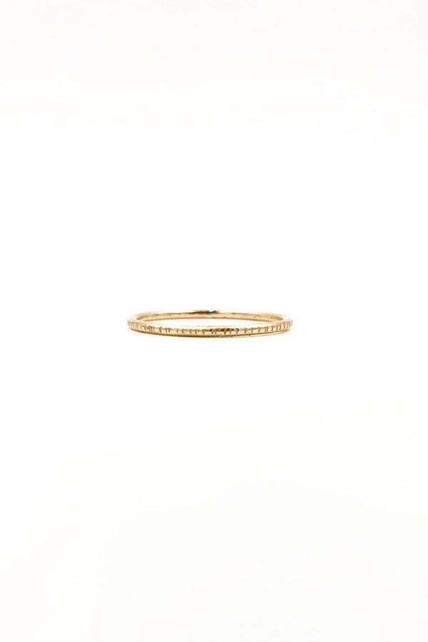 Gold Heavy Edge Coin Ring