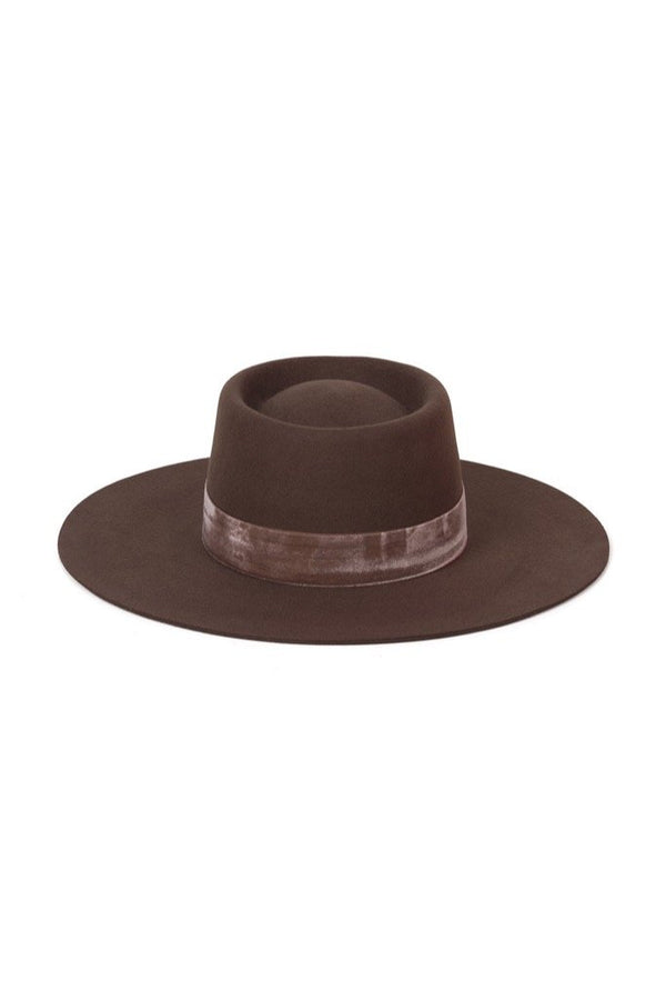 Brown Juno Boater Hat