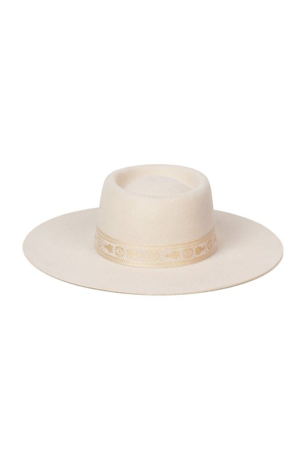 Cream Juno Boater Hat