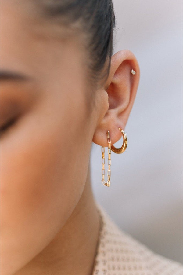 Gold Lyte Hoops