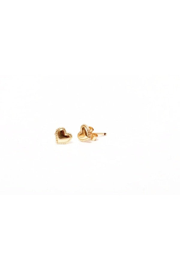 Gold Heart Post Earrings