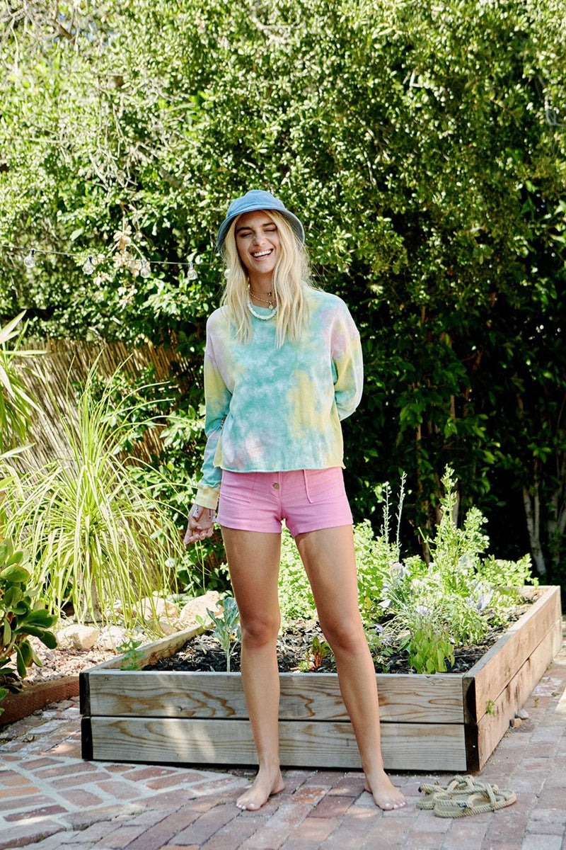 Lily Pad Tie Dye Crop Long Sleeve